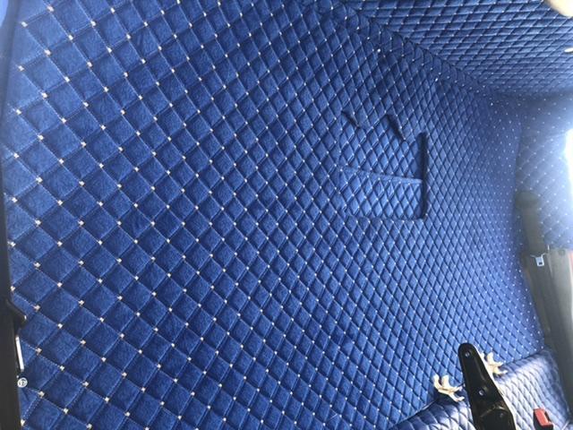 Isuzu npr iç döşeme mavi renk